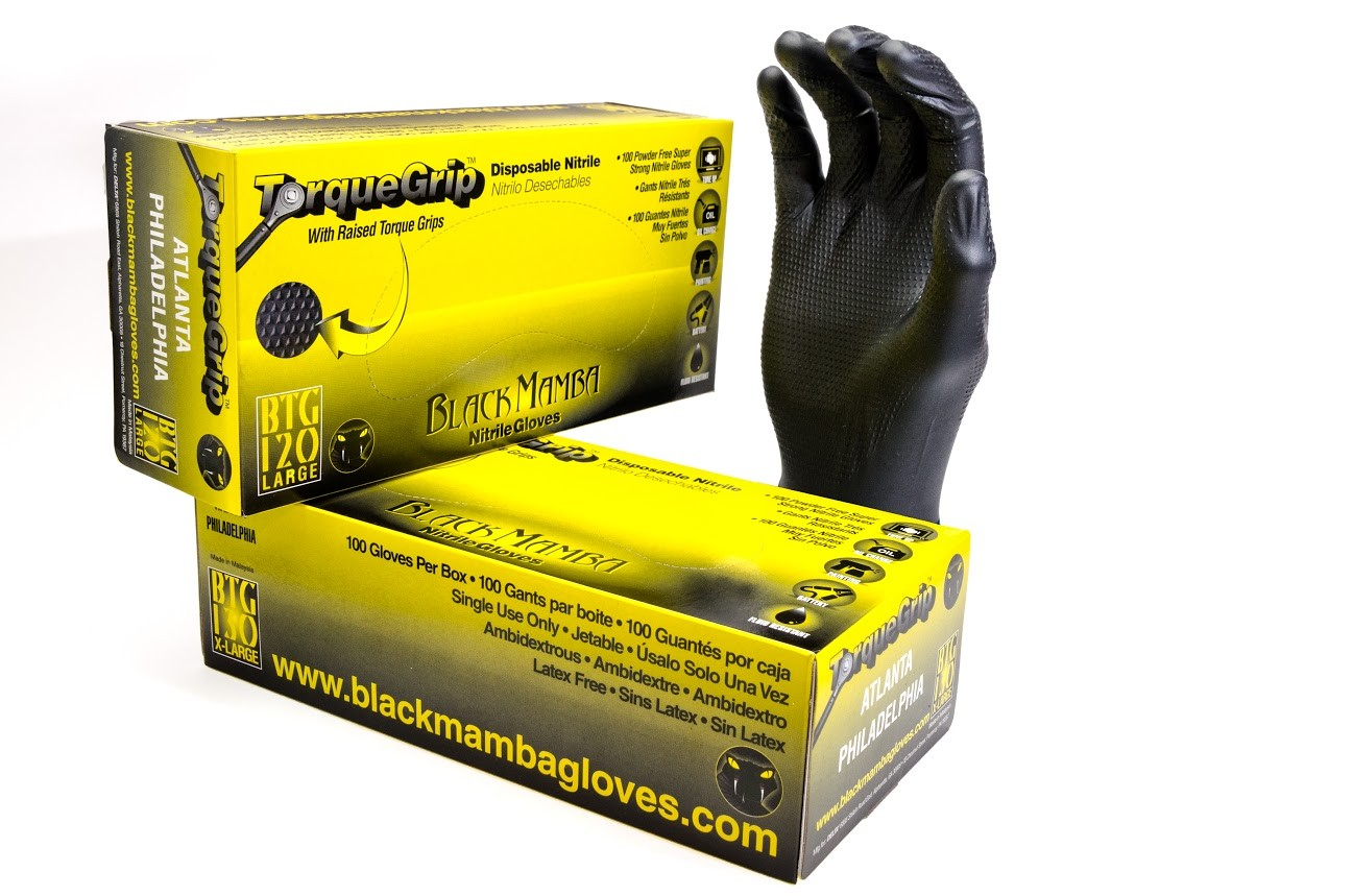 Black grip gloves - Be The First To Review This Product